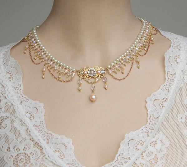 گردنبند مروارید و طلا|طلا|طلا و جواهری احسان|فروش اقساطی طلا