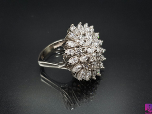 انگشتر طلای سفید|طلا|طلا و جواهری احسان|فروش اقساطی طلا