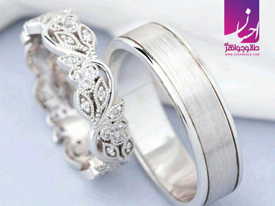 حلقه ازدواج ساده یا نگین دار|طلا|طلا و جواهری احسان|فروش اقساطی طلا
