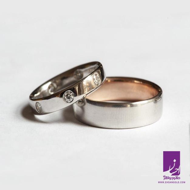 حلقه ست پلاتینی|طلا|طلا و جواهری احسان|فروش اقساطی طلا