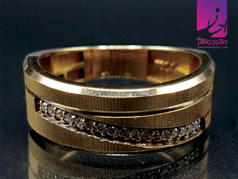 انگشتر جواهر اصل طلا طلا و جواهری احسان فروش اقساطی طلا