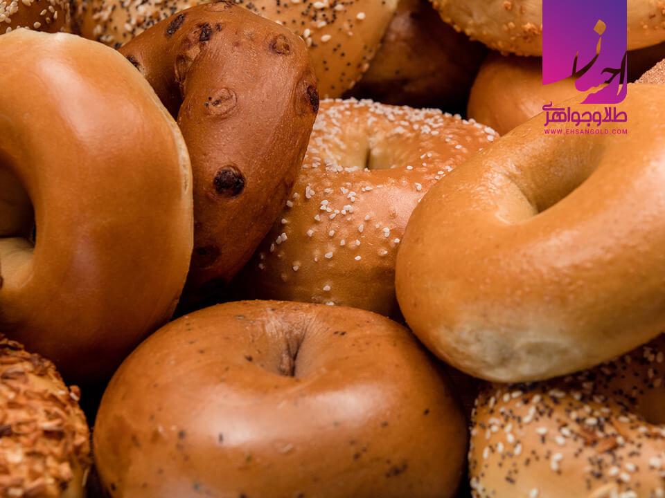 نان بیگل طلا طلا طلا و جواهر احسان فروش اقساطی طلا