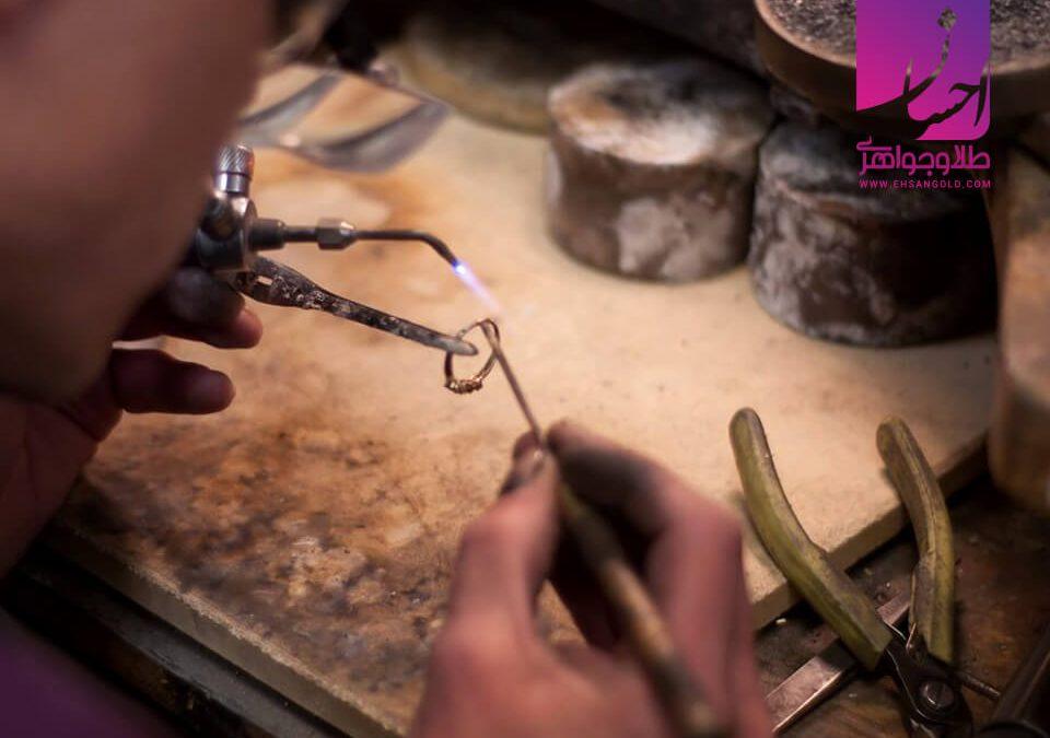 ابزار جواهرسازی  طلا طلا و جواهر احسان فروش اقساطی طلا