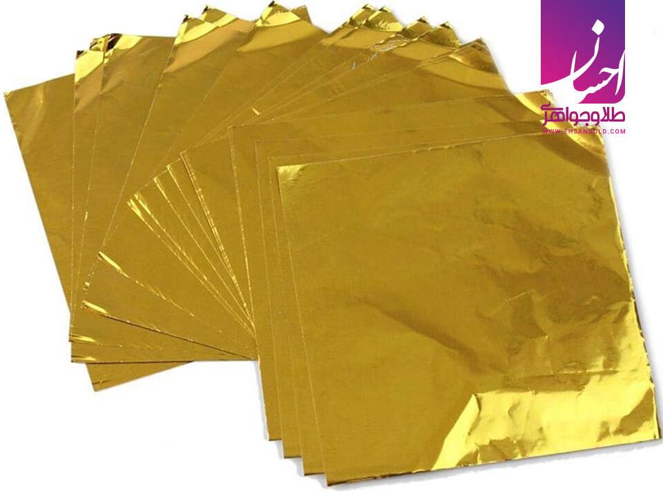 کاربرد ورق طلا|طلا|طلا و جواهر احسان|فروش اقساطی طلا