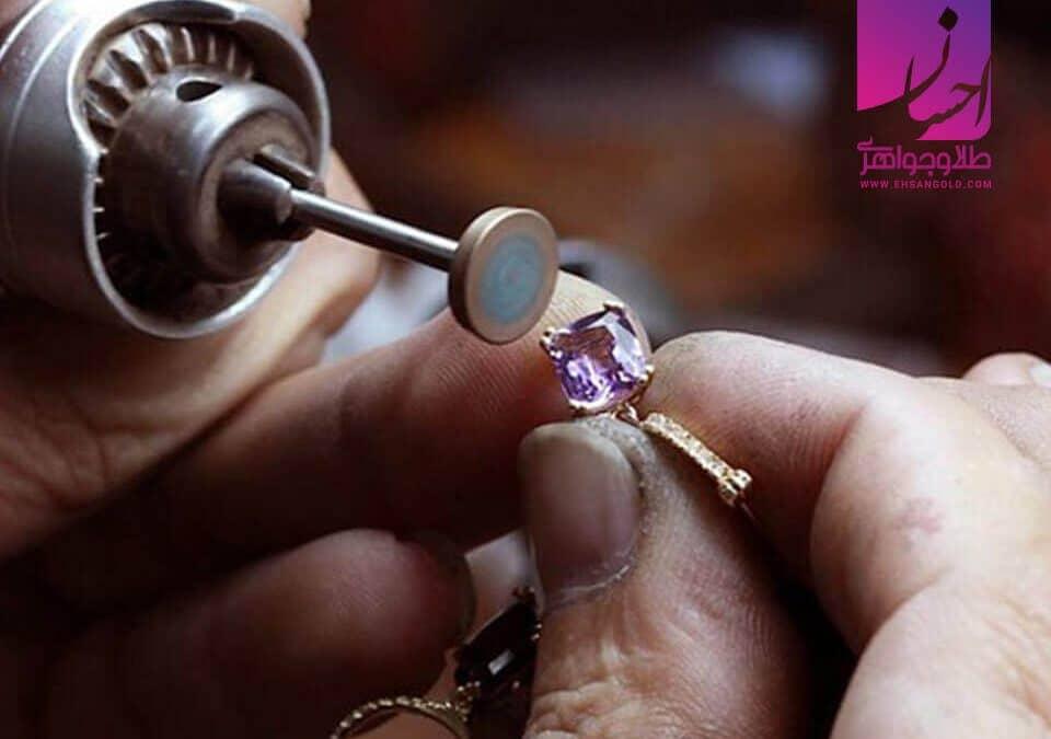 تولید انگشتر |طلا|طلا و جواهر احسان|فروش اقساطی طلا