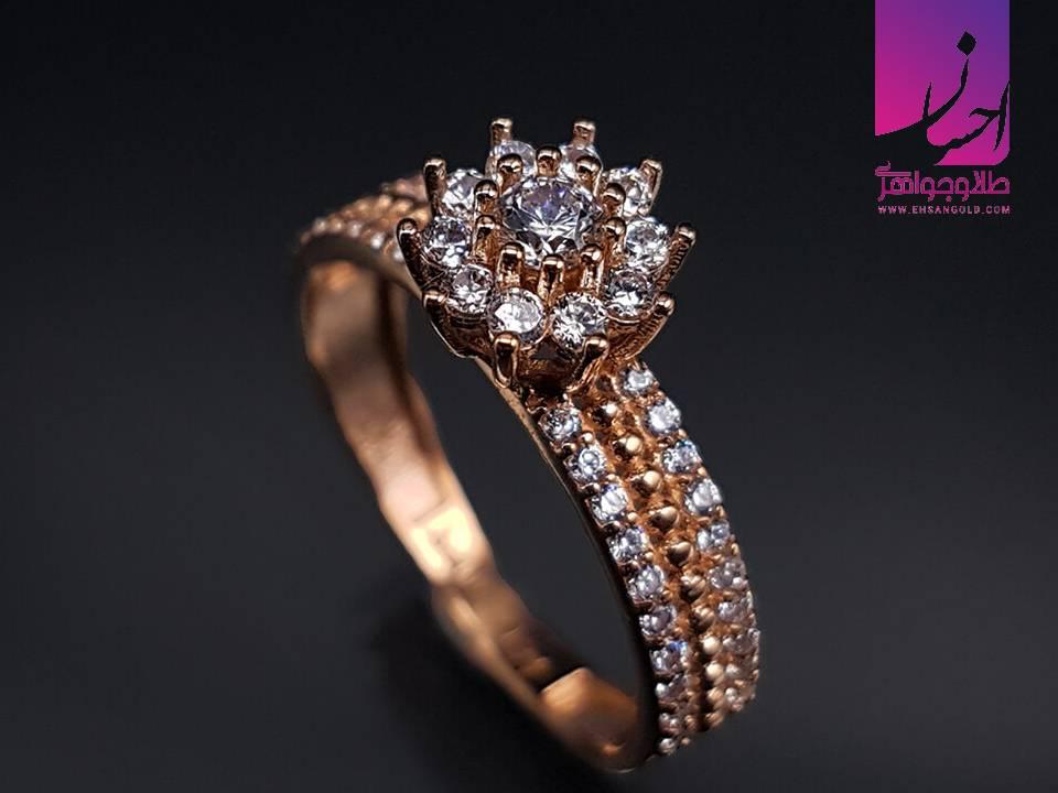 انگشتر طلا فلاور |طلا|طلا و جواهر احسان|فروش اقساطی طلا