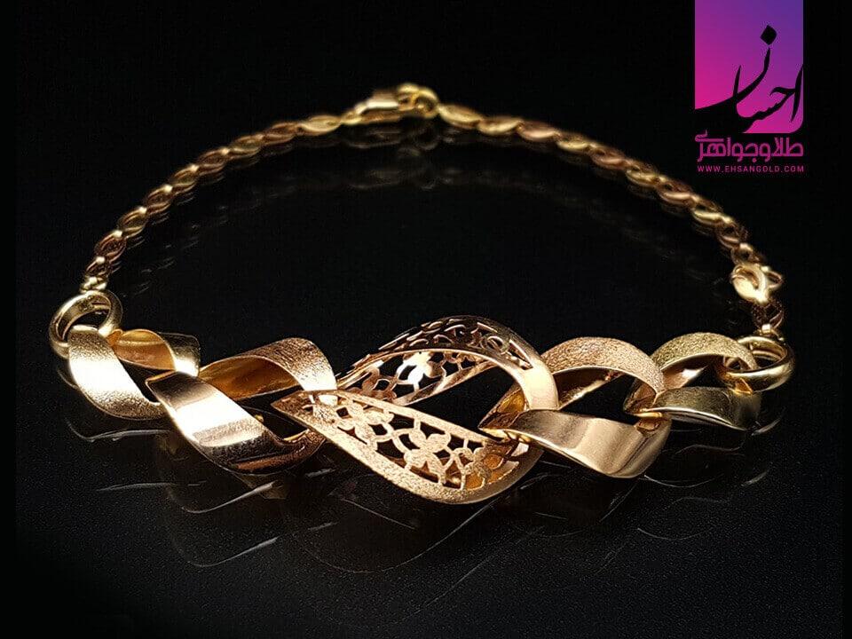دستبند طلا هاویلند|طلا|طلا و جواهر احسان|فروش اقساطی طلا