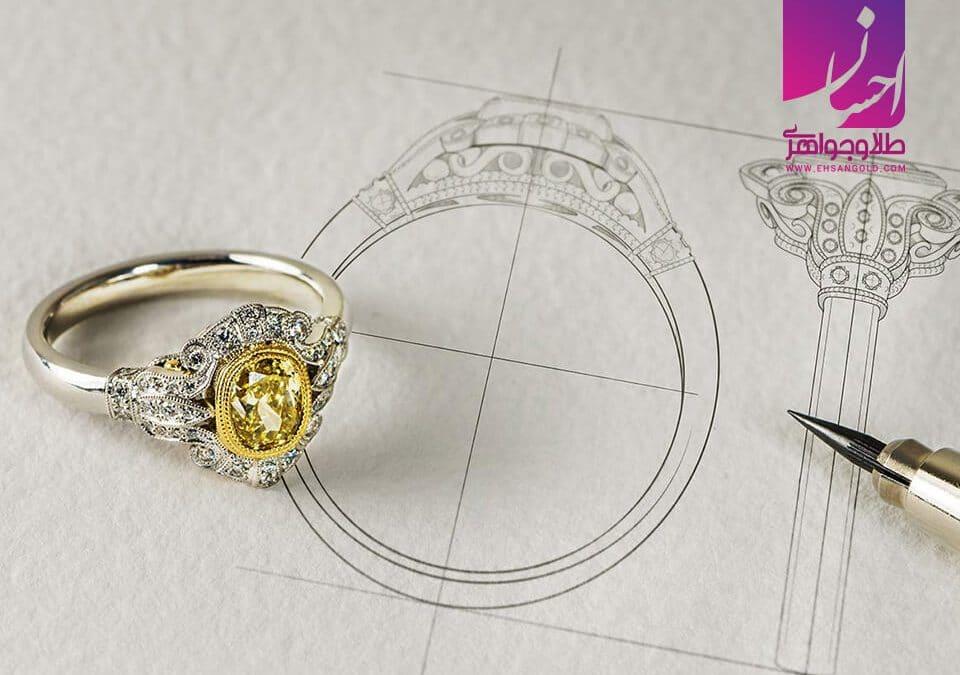 طراحی حلقه ازدواج |طلا|طلا و جواهر احسان|فروش اقساطی طلا
