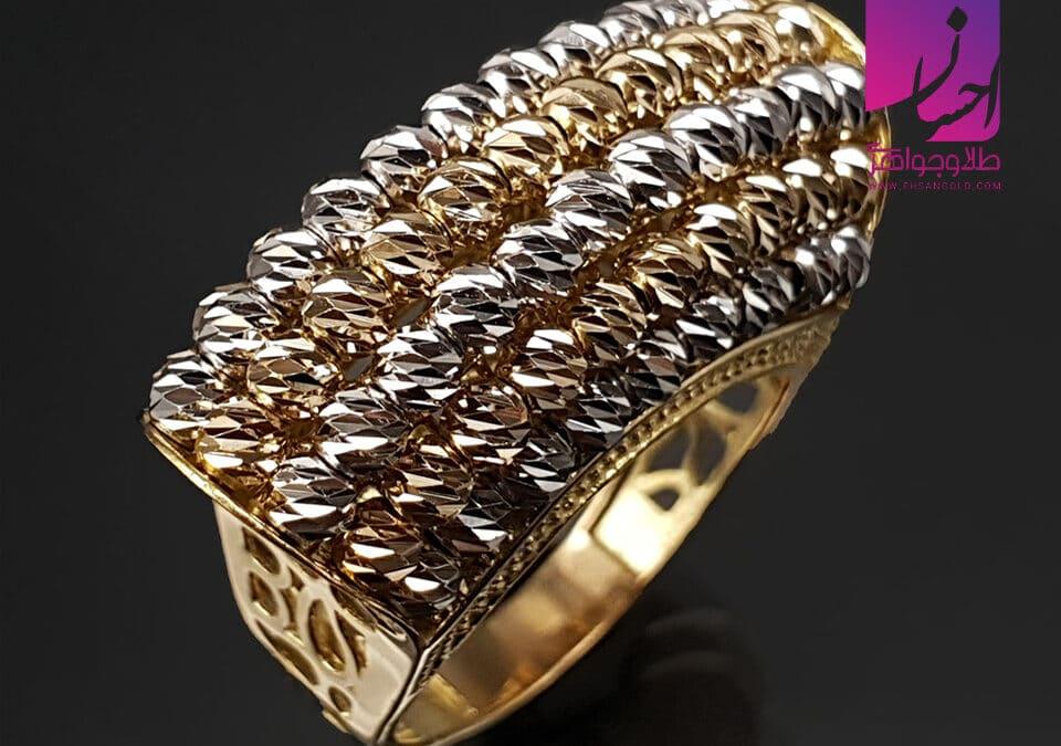 انگشتر طلا گوی و سنگ   طلا طلا و جواهر احسان فروش اقساطی طلا