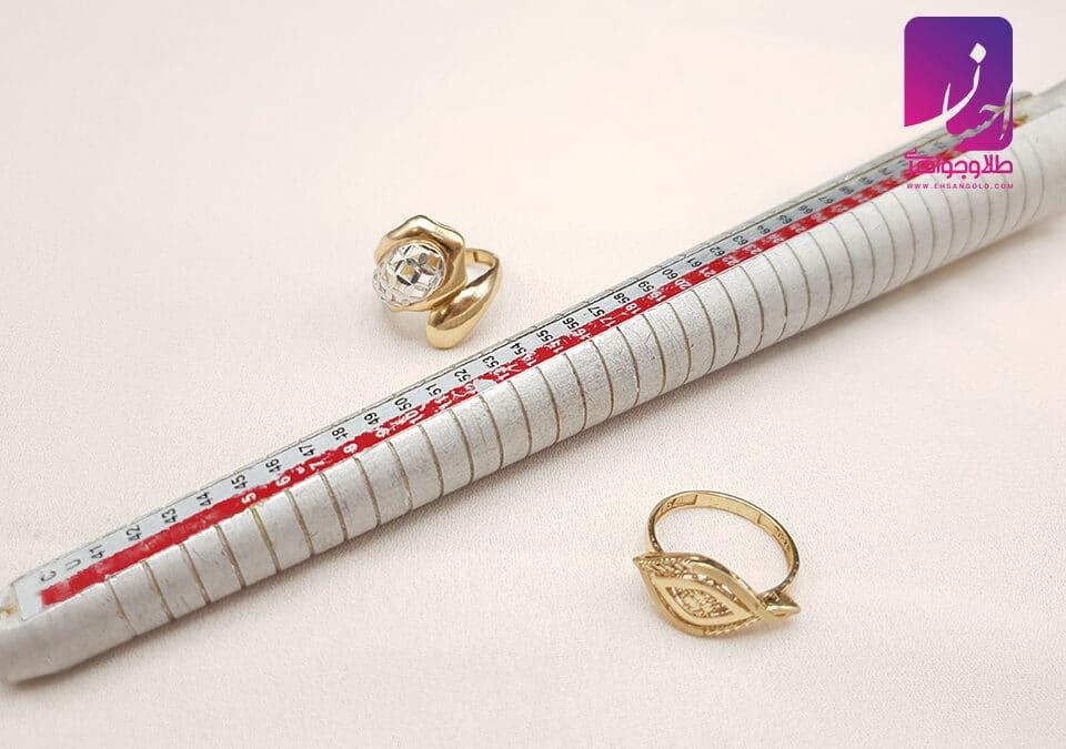 انتخاب سایز انگشتر | طلا|طلا و جواهر احسان|فروش اقساطی طلا
