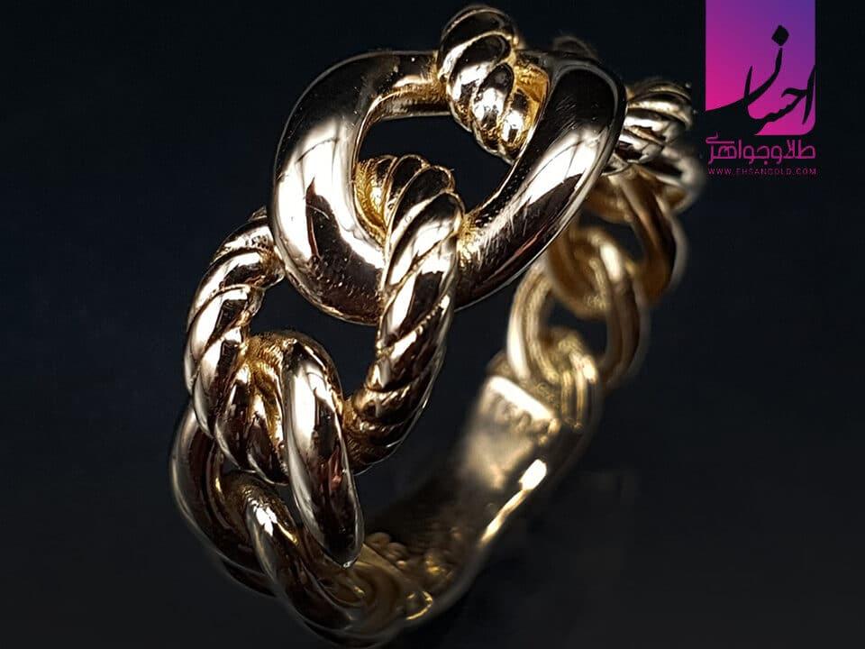 انگشتر طلا کارتیر | طلا|طلا و جواهر احسان|فروش اقساطی طلا